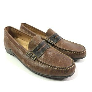 Martin Dingman Mens Drivers Penny Loafers Size 8.5